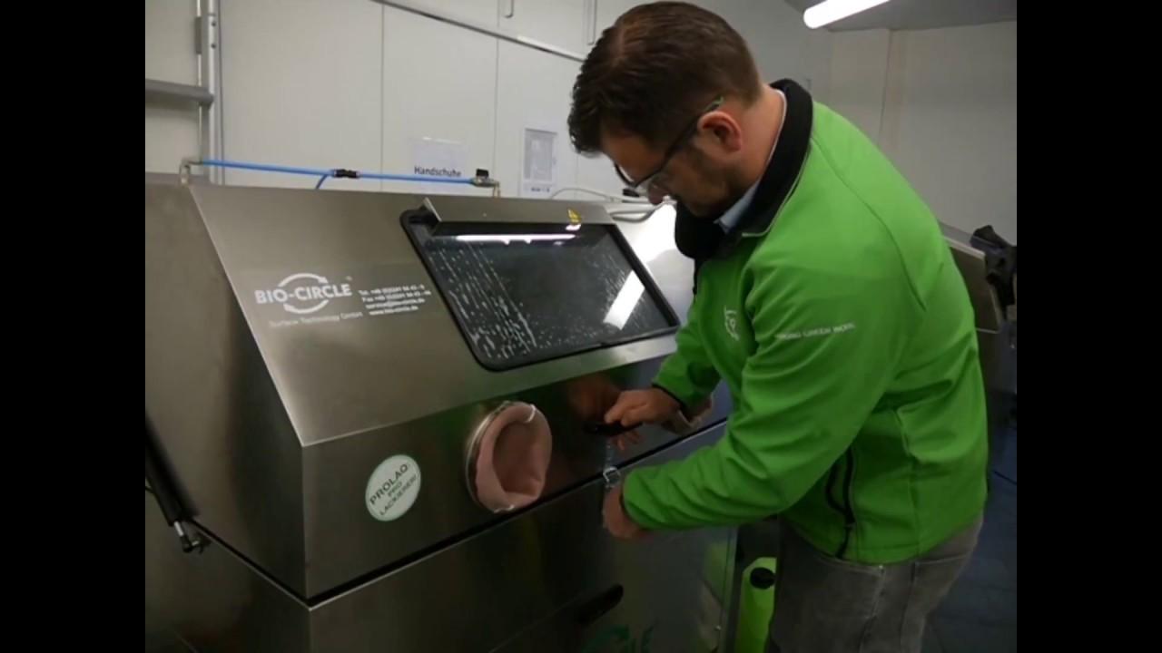 BIO-CIRCLE HP Vigo|高圧レベルでの手動部品洗浄